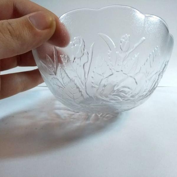 Jogo tigelas de vidro 300 ml 6 pç pote sobremesa