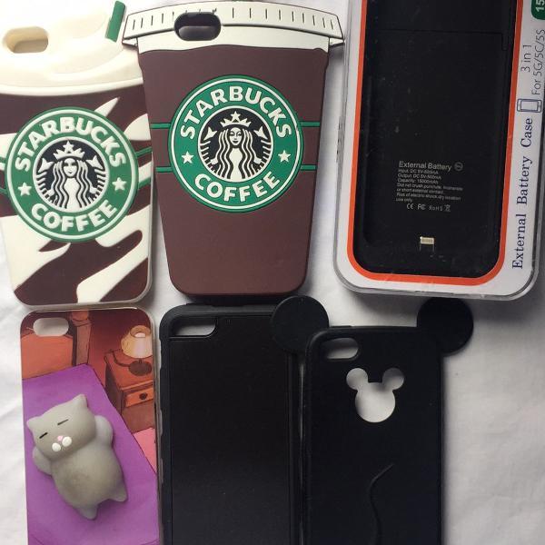 Kit de capinhas de celular para iphone 5/5s [usadas e novas]