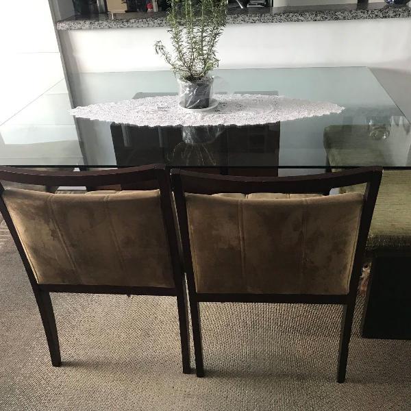 Mesa jantar vidro
