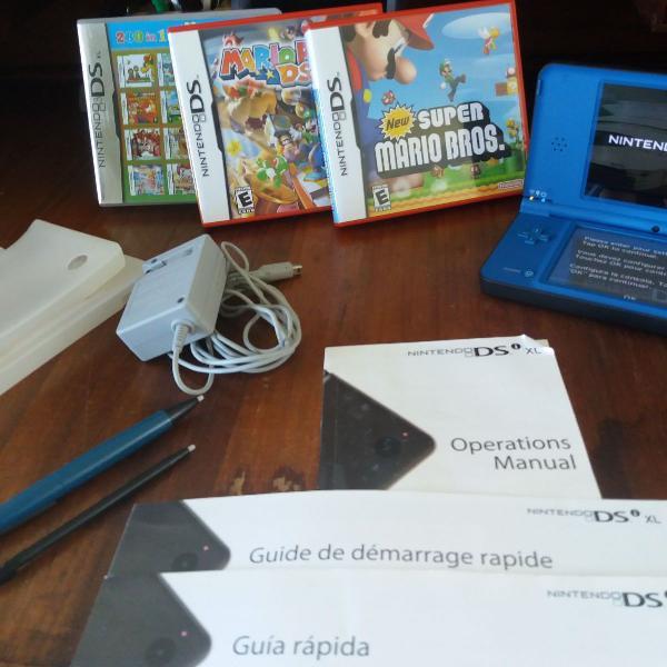 Nintendo ds i xl + 3 jogos