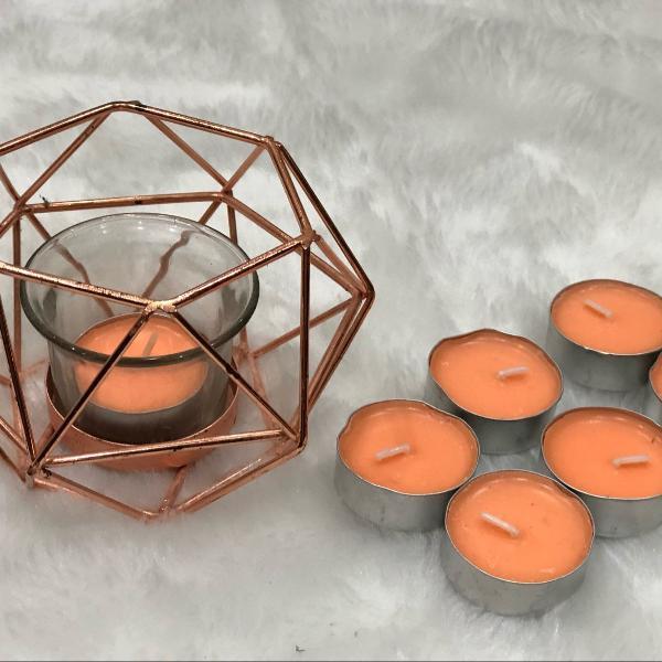 Porta velas tok&stok + 8 velas