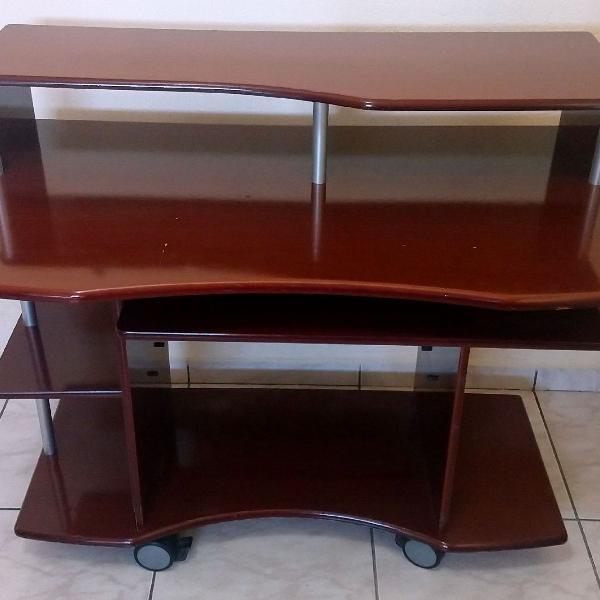 Rack mesa computador madeira