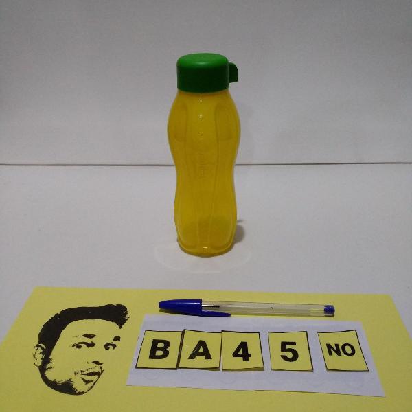 Tupperware garrafa eco tupper 310ml verde e amarelo
