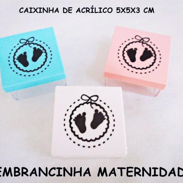 20 caixinhas de acrílico maternidade 5x5x3