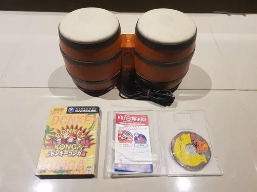 Bongo donkey kong konga + jogo dk konga game cube japones