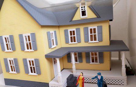 Casa importada em miniatura escala HO