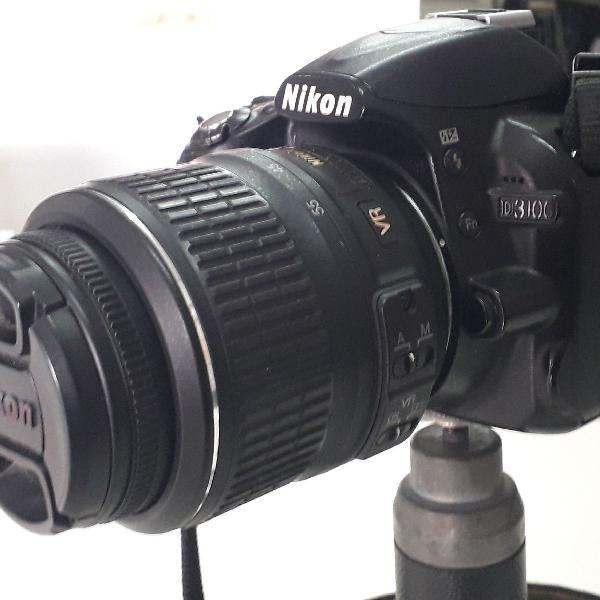 Câmera Nikon 3100 + Lente