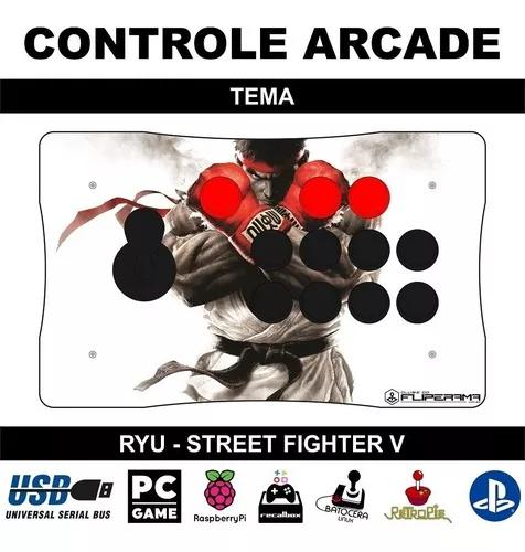 Controle arcade óptico com zero delay pc ps3 ps4 versão