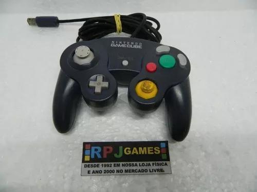 Controle azul original nintendo p/ game cube - loja rj