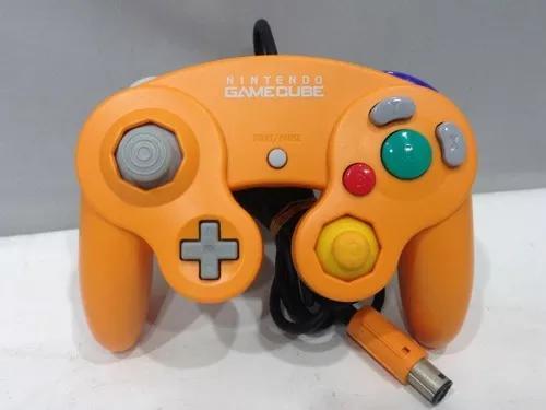 Controle original nintendo game cube laranja prg