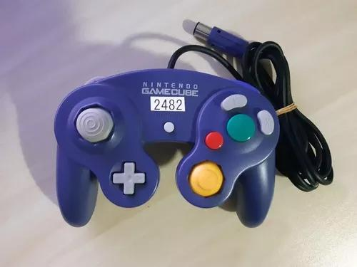 Controle original nintendo gamecube roxo ref.2482