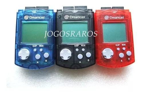 Dreamcast: vmu nas cores preto ou azul ou vermelho originais
