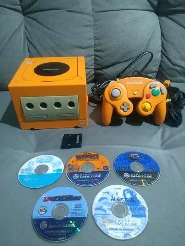 Game cube laranja completo