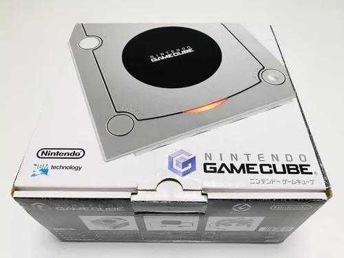 Gamecube japonês prata na caixa + jogo original