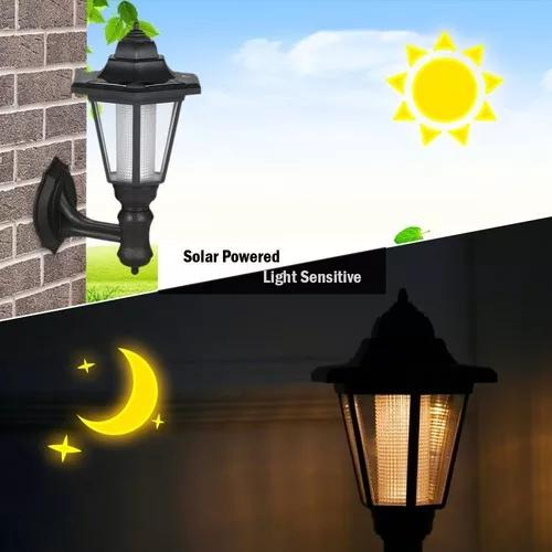 Hexagon rechargeable led solar powered lawn