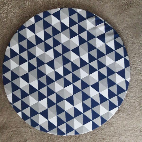 Kit 6 capas em tecido algodao sousplat 35 cm de diâmetro