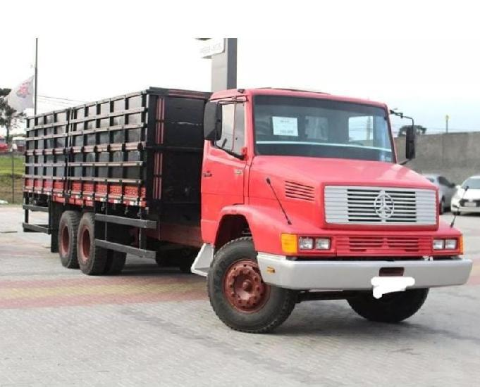 Mb 1621 6x2 1992 carroceria grade alta graneleiro