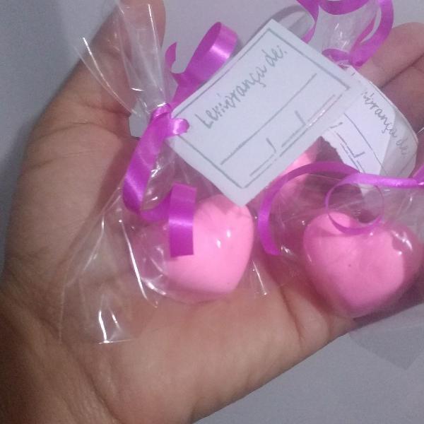 Mini sabonetes coração