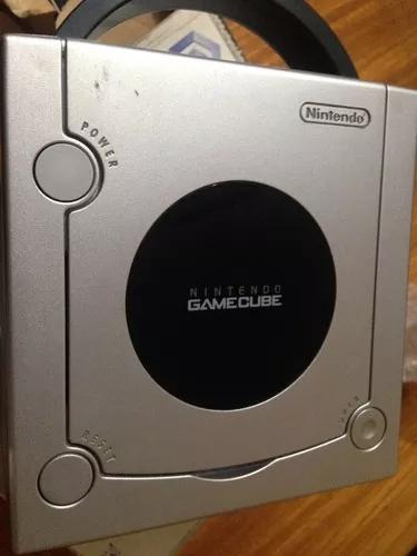 Nintendo game cube prata na caixa + m