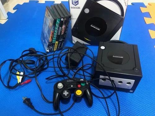 Nintendo gamecube americano caixa + lote jogos tudo original