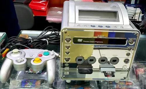 Panasonic q game cube console e multimédia, raro e