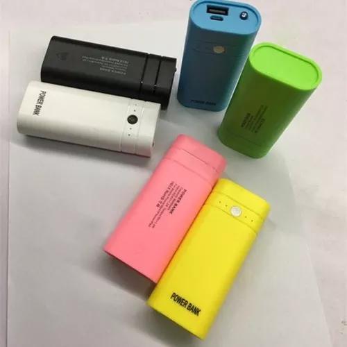Poder banco caso 2x18650 externo bateria carregador caixa w