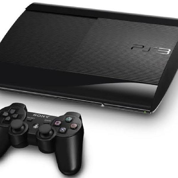 Ps3 super slim 500gb + 10 jogos