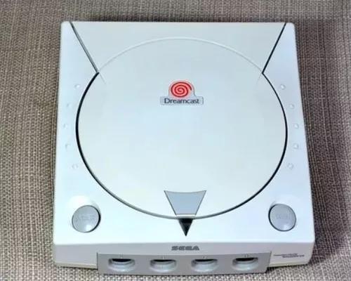 Sega dreamcast com 2 controles, 1 vmu, boot e jogos