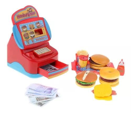 Simulação rápido food restaurant dinheiro register