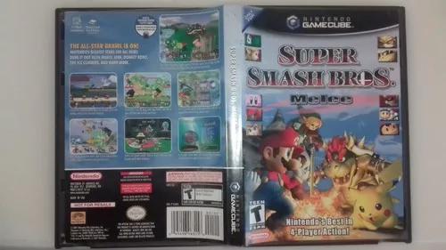 Super smash bros melee game cube completo