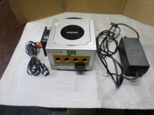 Videogame nintendo game cube prata original desboqueado