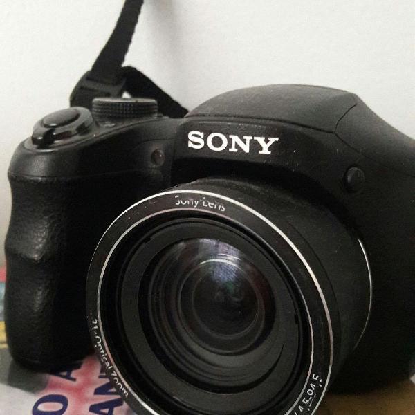 Câmera sony 16.1 mp dsc h100