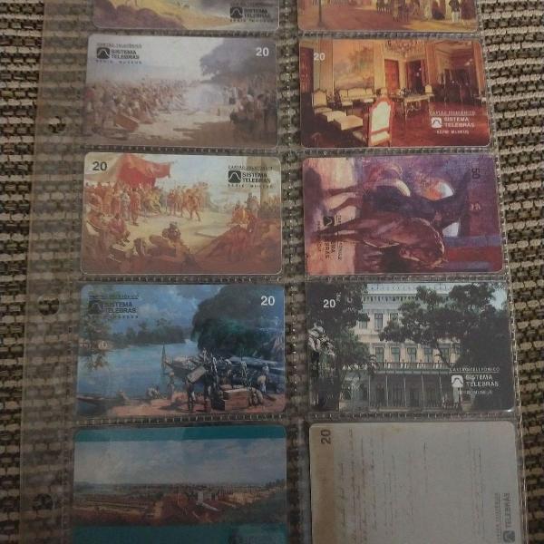 Coleção cartões kit com 10 (usados)