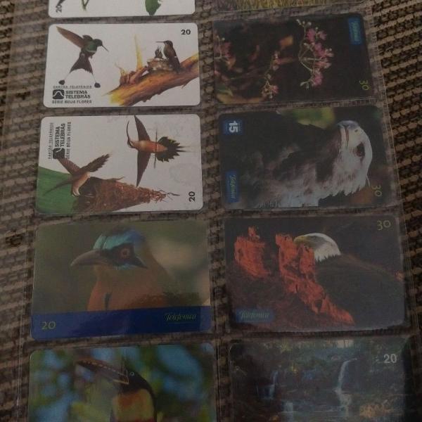 Coleção cartões telefônicos usados