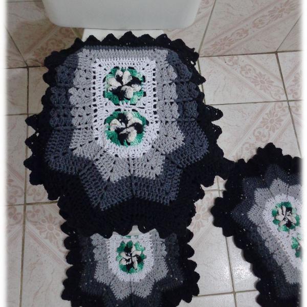 Conjunto de tapetes 3 peças