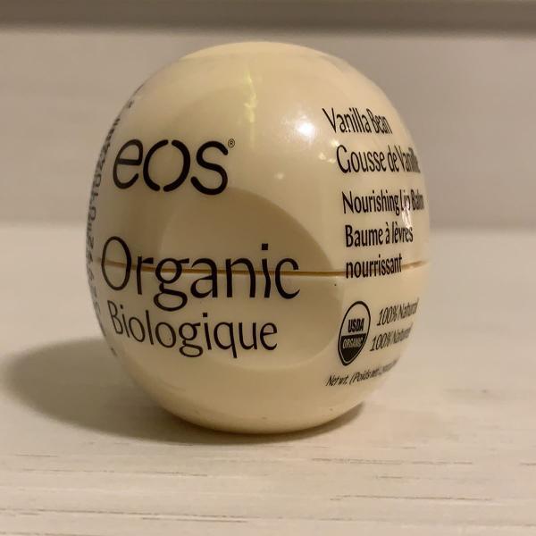 Eos lip balm organic vanilla bean 100% natural