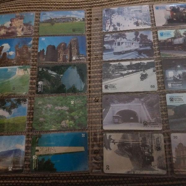 Kit cartões telefônicos usados