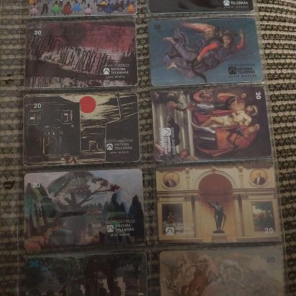 Kit coleção cartões telefônico (usados)
