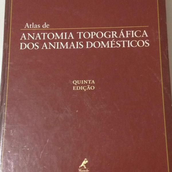 Livro anatomia topográfica dos animais domesticos