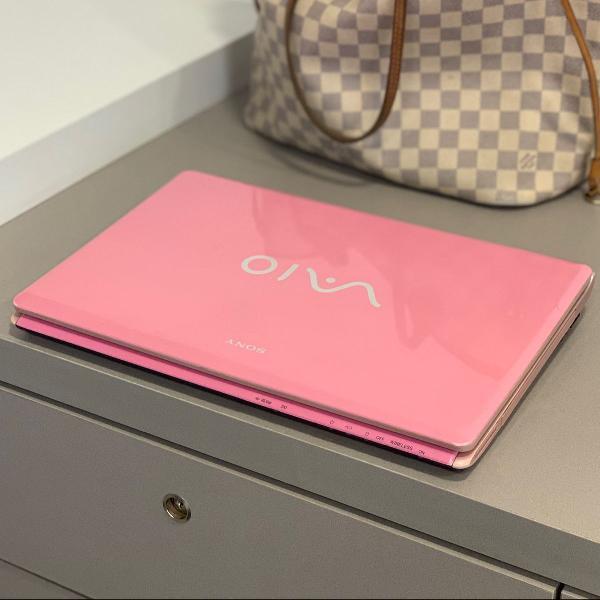 notebook vaio rosa