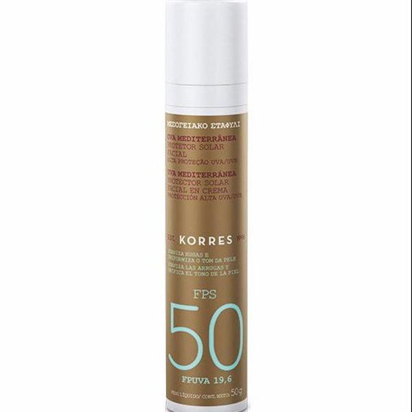 Protetor solar facial korres fps 50