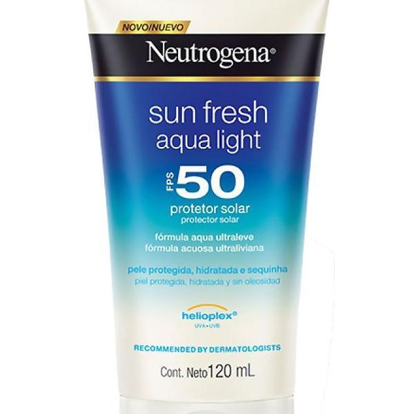 Protetor solar neutrogena sun fresh aqua light fps 50 120ml