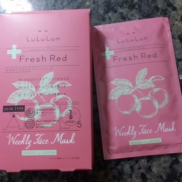 Sheet mask lululun plus fresh red
