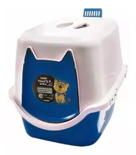 Banheiro gato sanitário wc 52x40x40 duracats com pá azul