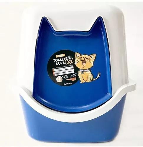 Banheiro gato sanitário wc 52x40x40 duracats com pá preto
