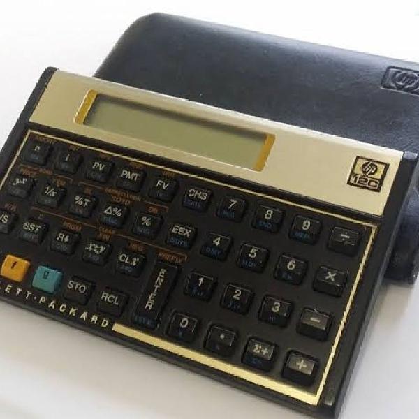 Calculadora hp financeira hp12c gold + case de couro