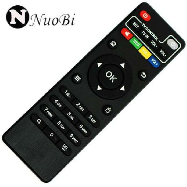 Controle remoto tv box linha mx - pilha grátis