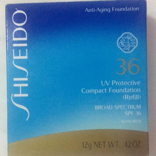 Base shiseido compacta com proteção solar