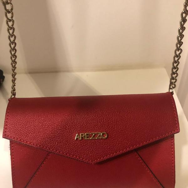 Bolsa arezzo vermelha pequena