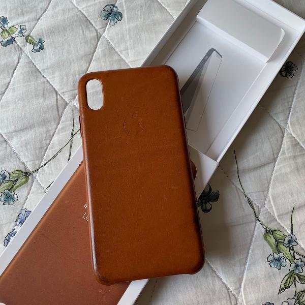 Capinha apple iphone x max couro original